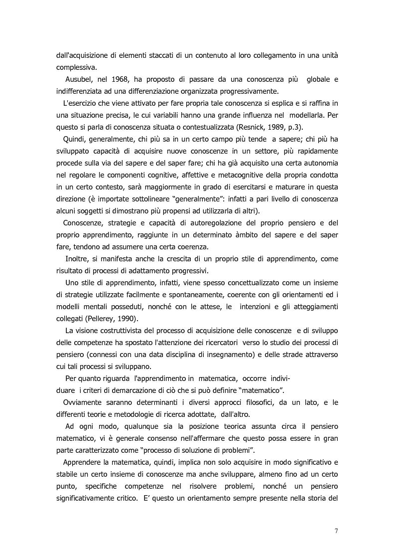 Anteprima della tesi: Il ragionamento matematico nei problemi impossibili, Pagina 6
