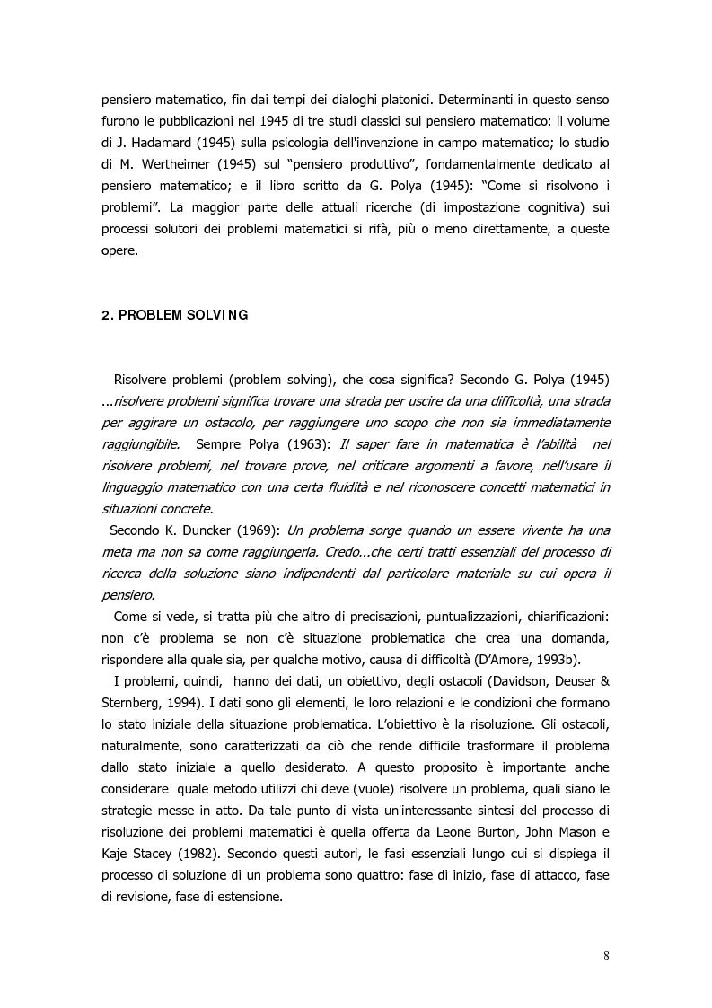 Anteprima della tesi: Il ragionamento matematico nei problemi impossibili, Pagina 7
