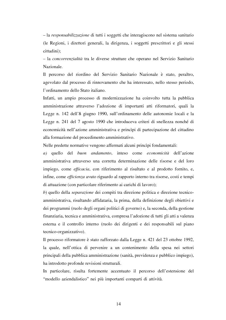 Anteprima della tesi: La politica sanitaria in Italia: tre modelli regionali a confronto, Pagina 11