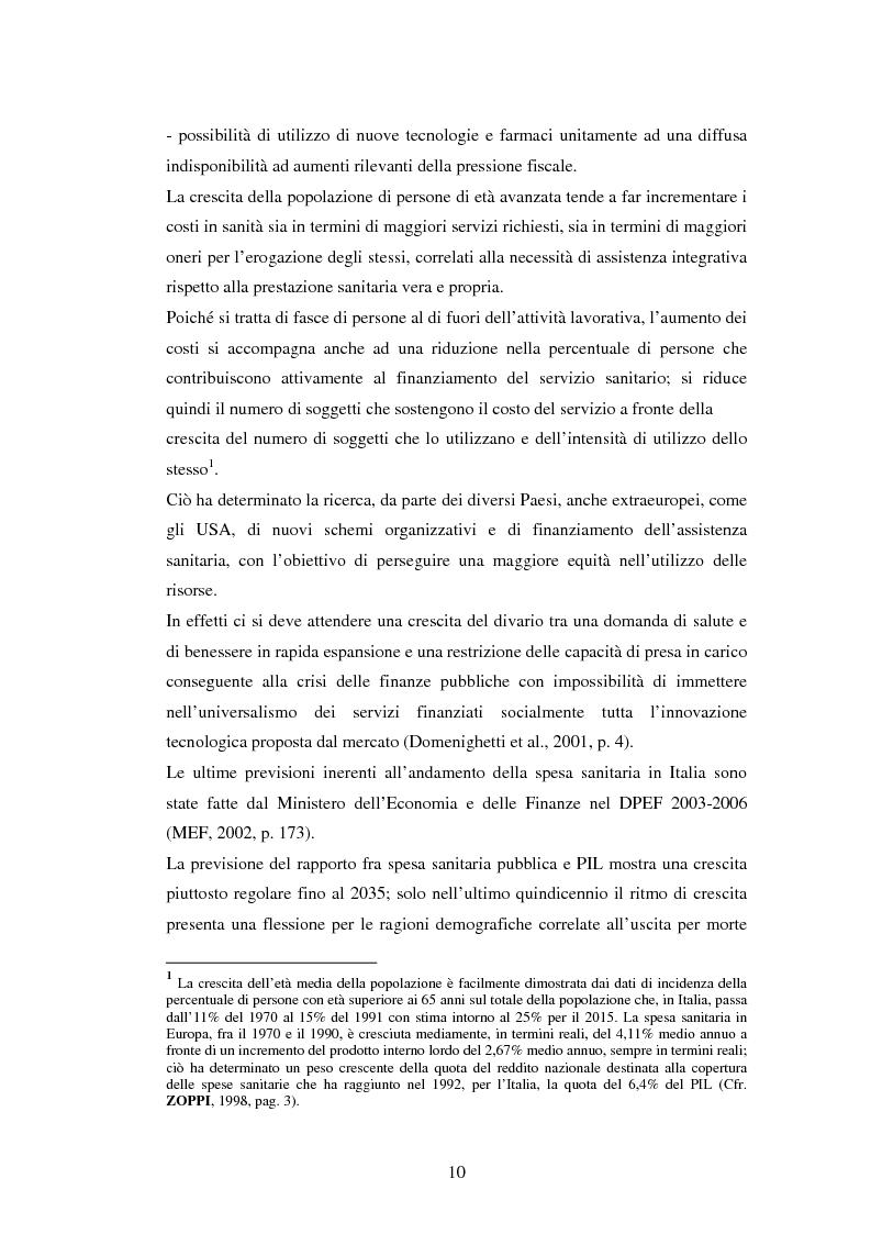 Anteprima della tesi: La politica sanitaria in Italia: tre modelli regionali a confronto, Pagina 7