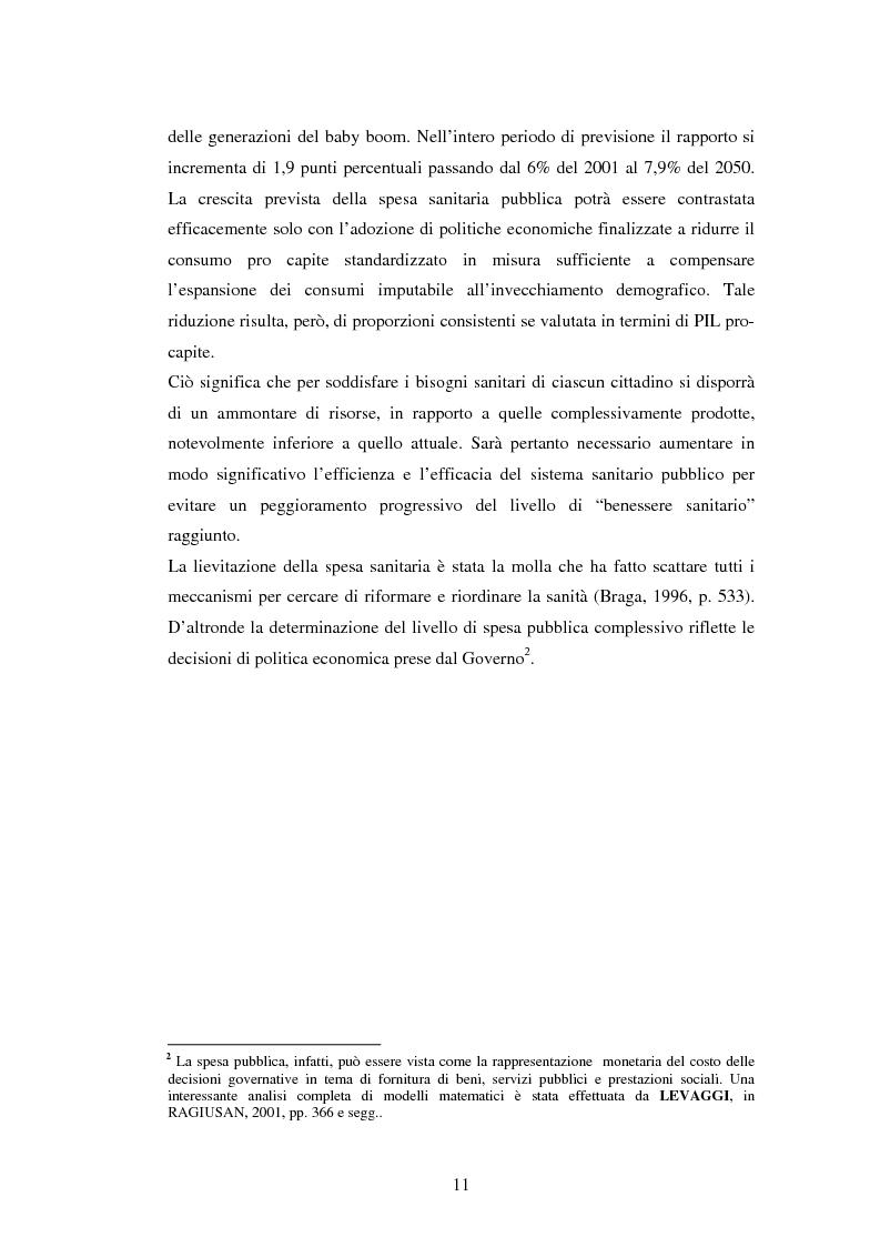 Anteprima della tesi: La politica sanitaria in Italia: tre modelli regionali a confronto, Pagina 8