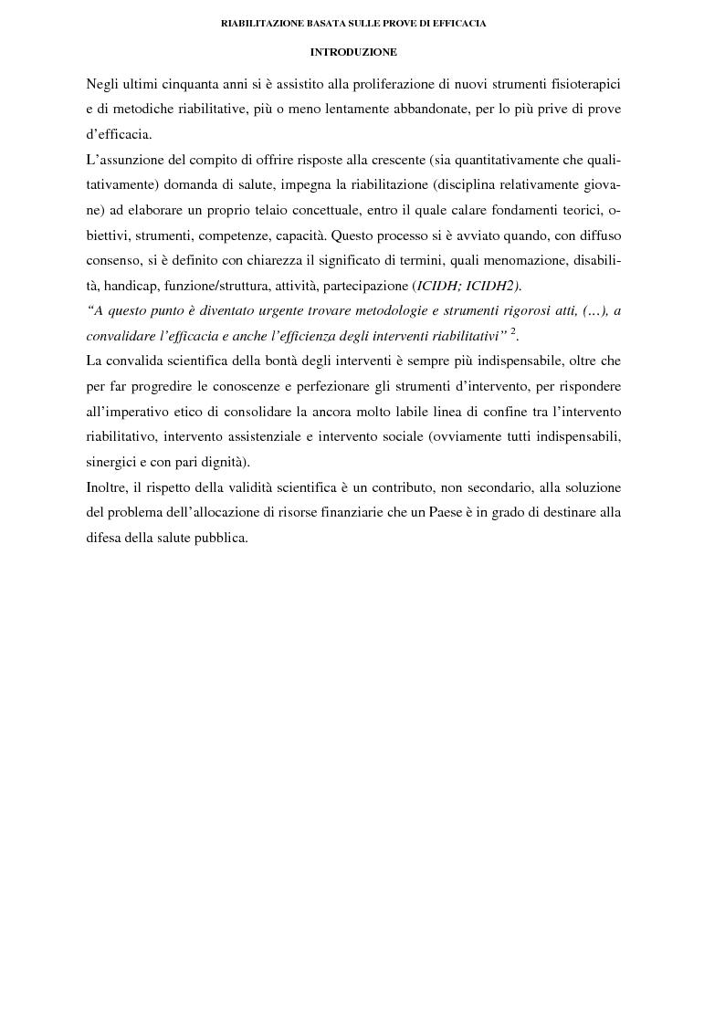 Anteprima della tesi: La riabilitazione basata sulle prove di efficacia, Pagina 2