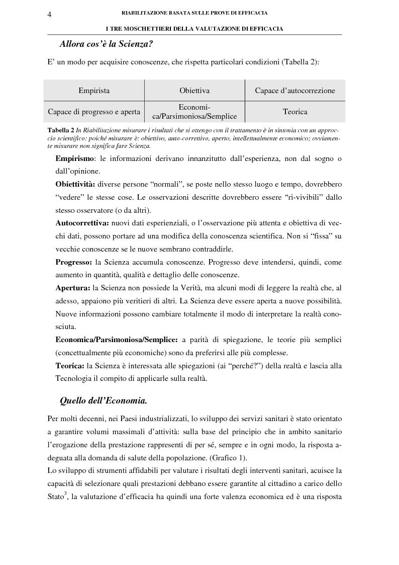 Anteprima della tesi: La riabilitazione basata sulle prove di efficacia, Pagina 4