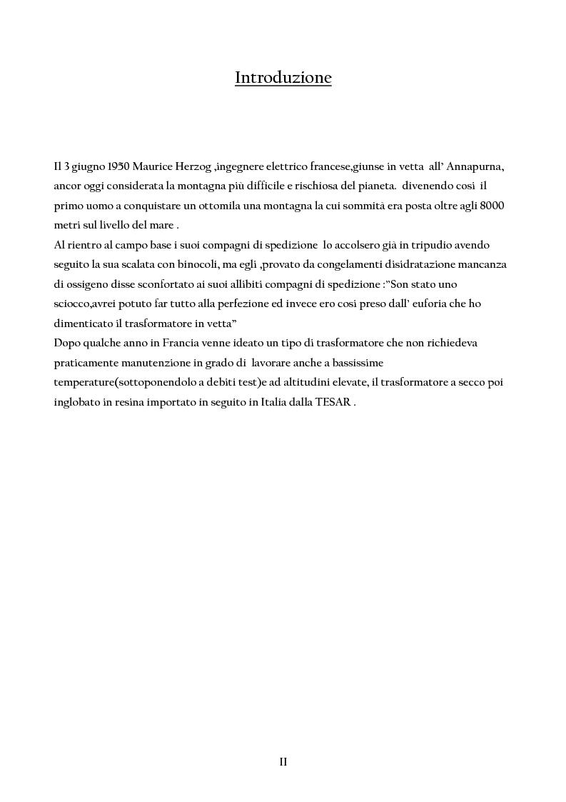 Anteprima della tesi: Trasformatori Inglobati in resina di conversione di trazione secondo la normativa IEC 61378, Pagina 1