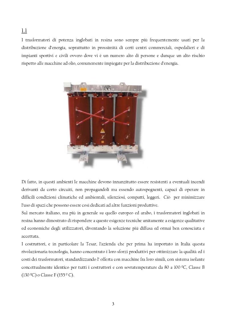 Anteprima della tesi: Trasformatori Inglobati in resina di conversione di trazione secondo la normativa IEC 61378, Pagina 4