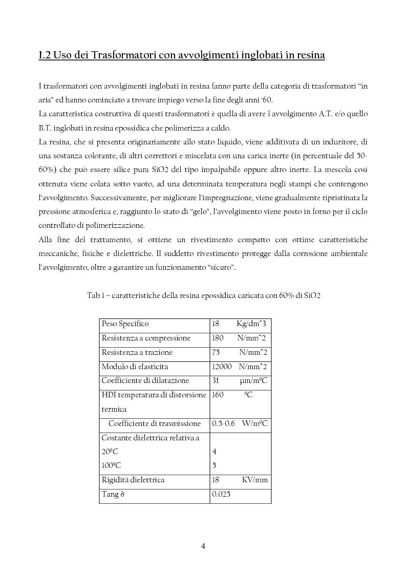 Anteprima della tesi: Trasformatori Inglobati in resina di conversione di trazione secondo la normativa IEC 61378, Pagina 5