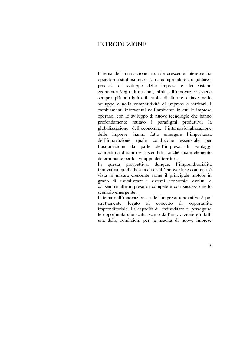 Anteprima della tesi: Innovazione e Opportunità Imprenditoriale: il caso Wi-Max, Pagina 1
