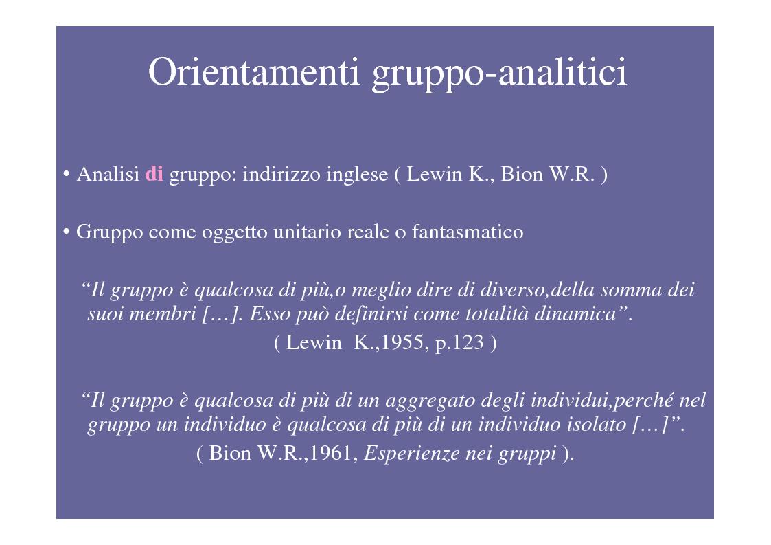 Anteprima della tesi: La psicoterapia di gruppo con pazienti psicotici e borderline. Esperienza d'èquipe in una C.T.R., Pagina 2