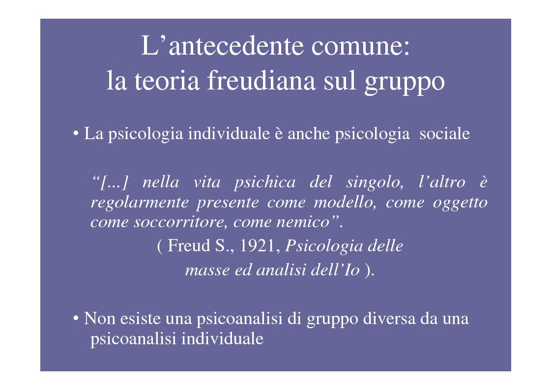 Anteprima della tesi: La psicoterapia di gruppo con pazienti psicotici e borderline. Esperienza d'èquipe in una C.T.R., Pagina 4
