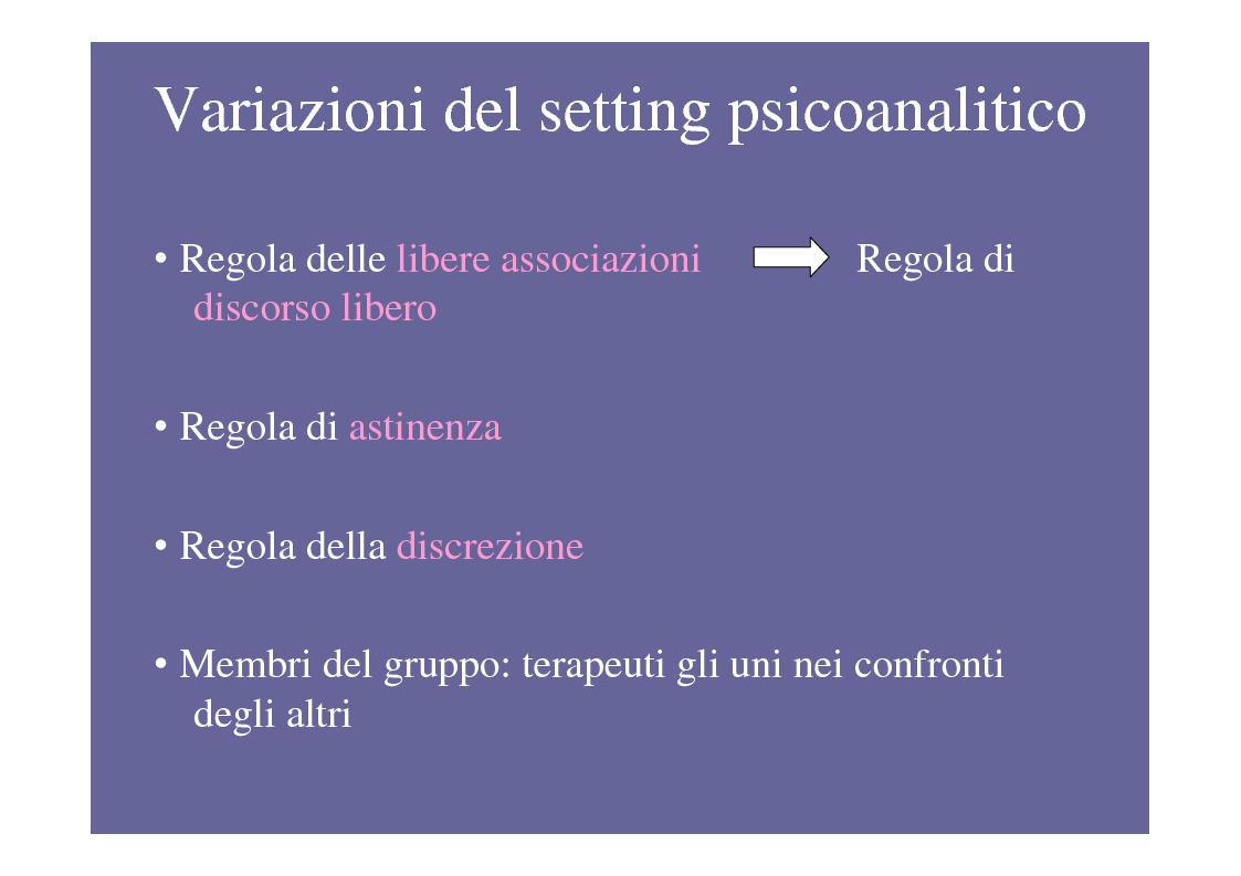 Anteprima della tesi: La psicoterapia di gruppo con pazienti psicotici e borderline. Esperienza d'èquipe in una C.T.R., Pagina 5
