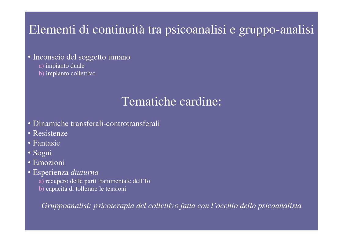 Anteprima della tesi: La psicoterapia di gruppo con pazienti psicotici e borderline. Esperienza d'èquipe in una C.T.R., Pagina 6