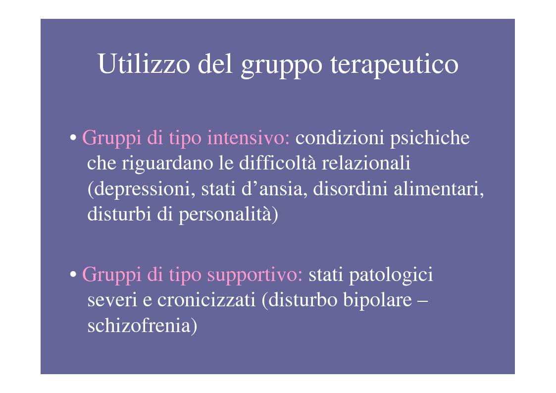 Anteprima della tesi: La psicoterapia di gruppo con pazienti psicotici e borderline. Esperienza d'èquipe in una C.T.R., Pagina 7