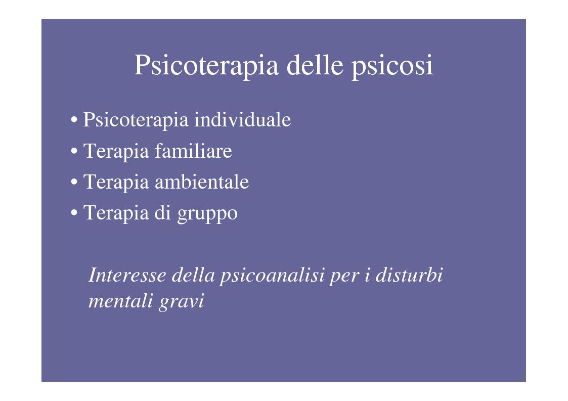 Anteprima della tesi: La psicoterapia di gruppo con pazienti psicotici e borderline. Esperienza d'èquipe in una C.T.R., Pagina 8