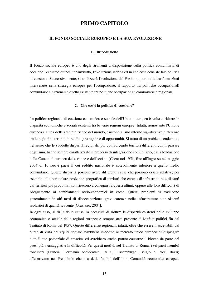 Anteprima della tesi: Il partenariato nel Fondo sociale europeo: i casi di Veneto ed Emilia-Romagna, Pagina 10