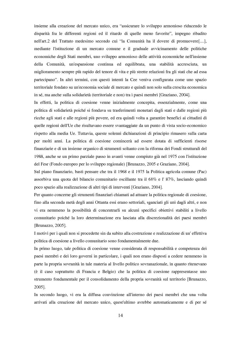 Anteprima della tesi: Il partenariato nel Fondo sociale europeo: i casi di Veneto ed Emilia-Romagna, Pagina 11