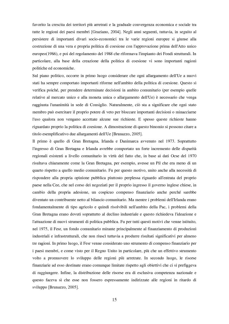 Anteprima della tesi: Il partenariato nel Fondo sociale europeo: i casi di Veneto ed Emilia-Romagna, Pagina 12