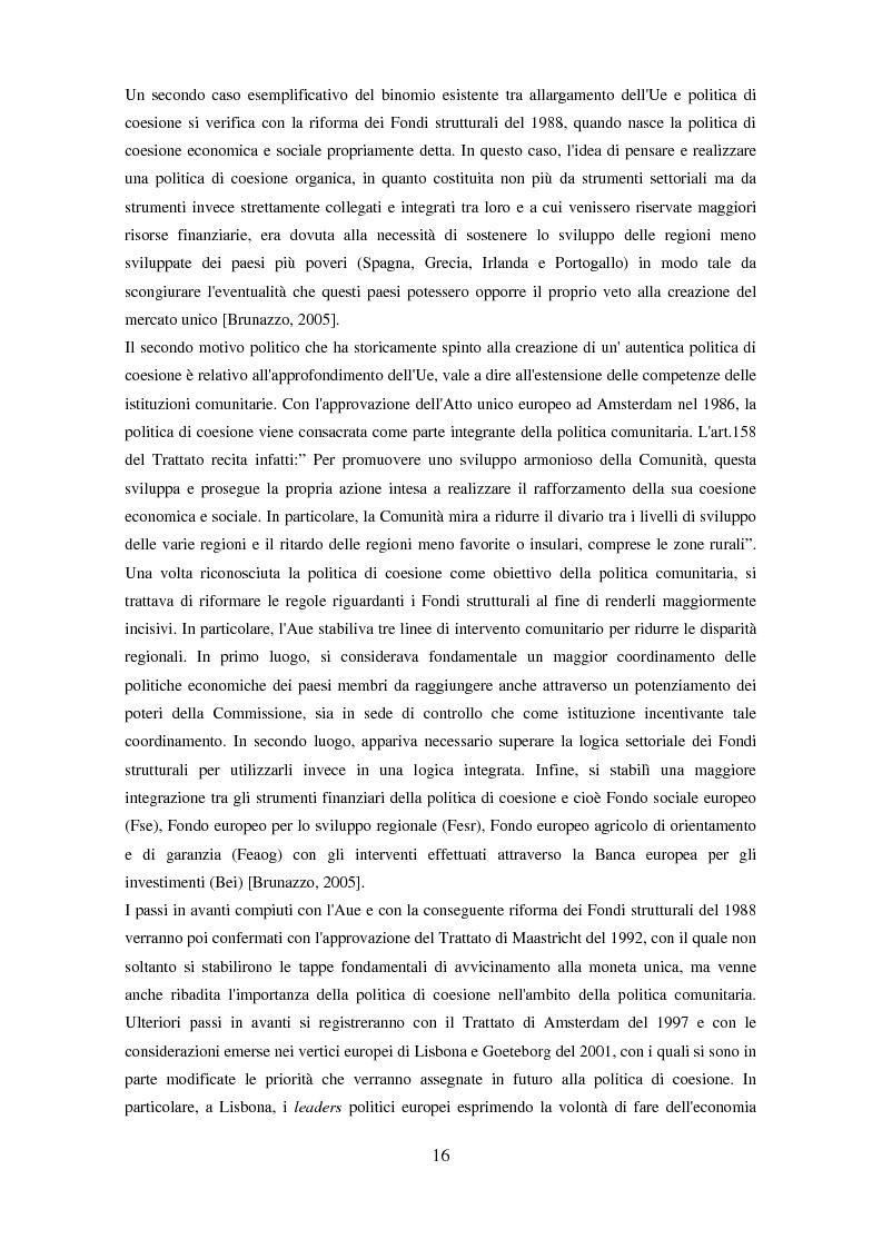 Anteprima della tesi: Il partenariato nel Fondo sociale europeo: i casi di Veneto ed Emilia-Romagna, Pagina 13