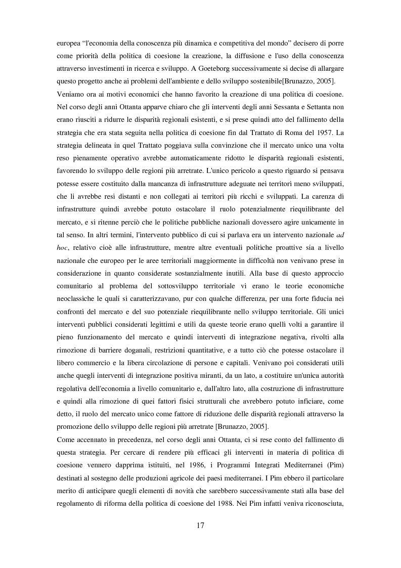 Anteprima della tesi: Il partenariato nel Fondo sociale europeo: i casi di Veneto ed Emilia-Romagna, Pagina 14