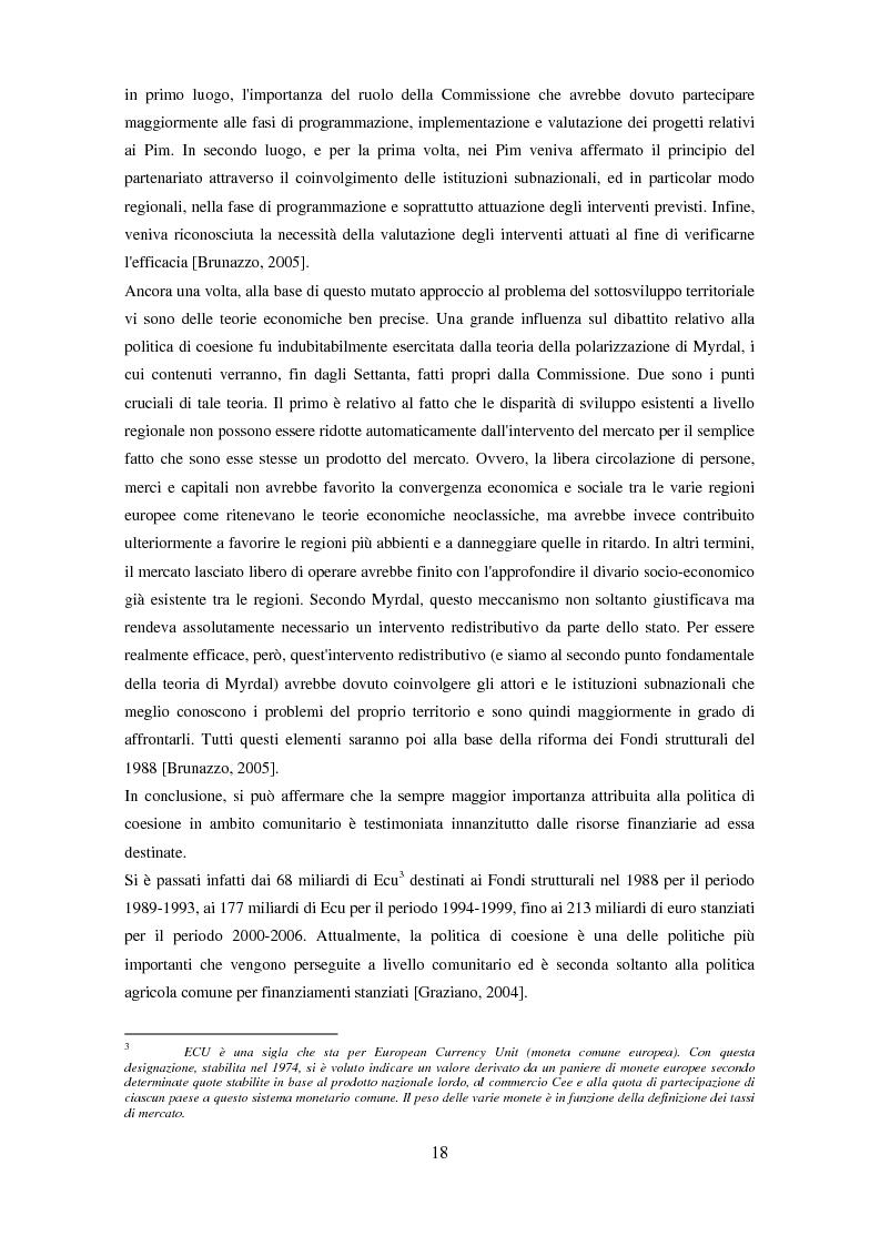 Anteprima della tesi: Il partenariato nel Fondo sociale europeo: i casi di Veneto ed Emilia-Romagna, Pagina 15