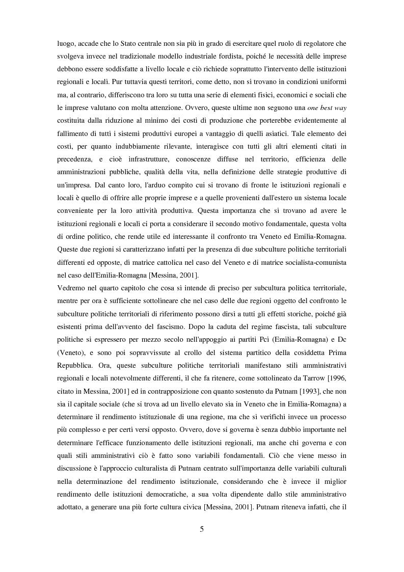 Anteprima della tesi: Il partenariato nel Fondo sociale europeo: i casi di Veneto ed Emilia-Romagna, Pagina 2