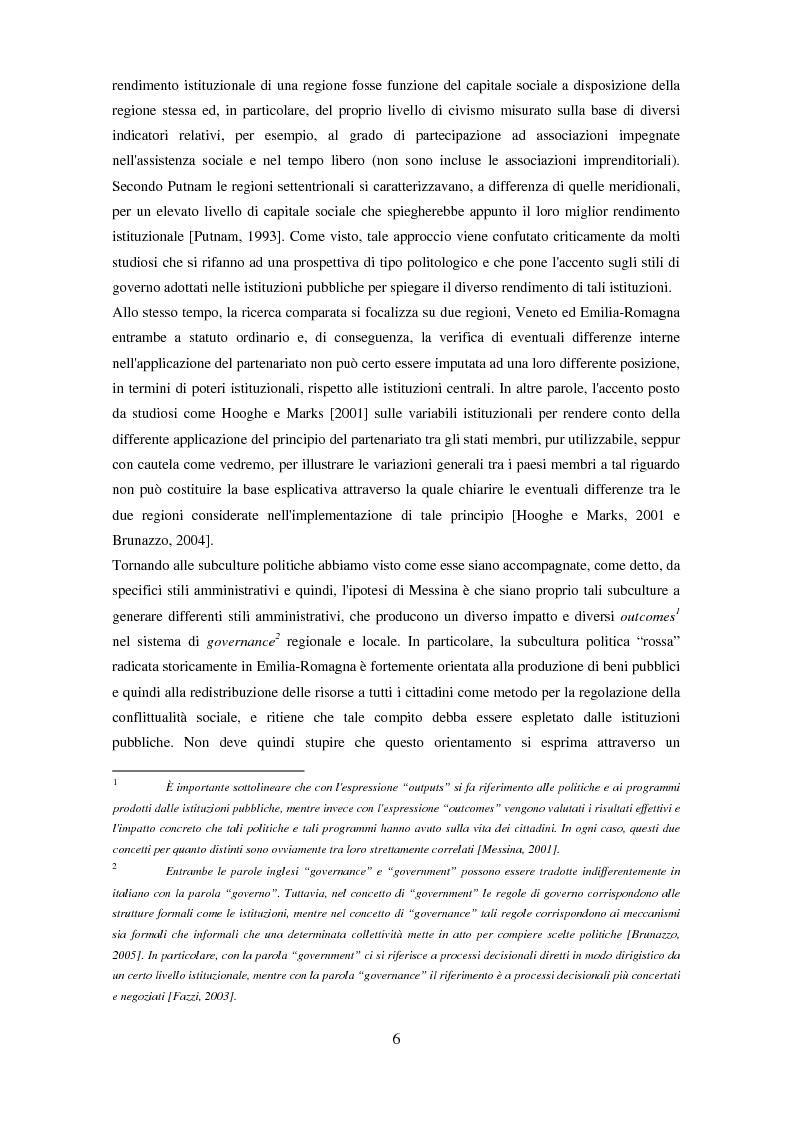 Anteprima della tesi: Il partenariato nel Fondo sociale europeo: i casi di Veneto ed Emilia-Romagna, Pagina 3