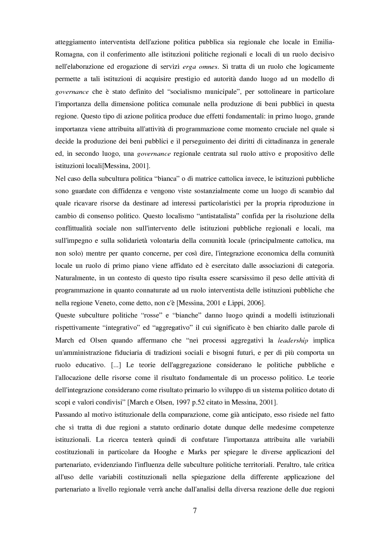 Anteprima della tesi: Il partenariato nel Fondo sociale europeo: i casi di Veneto ed Emilia-Romagna, Pagina 4