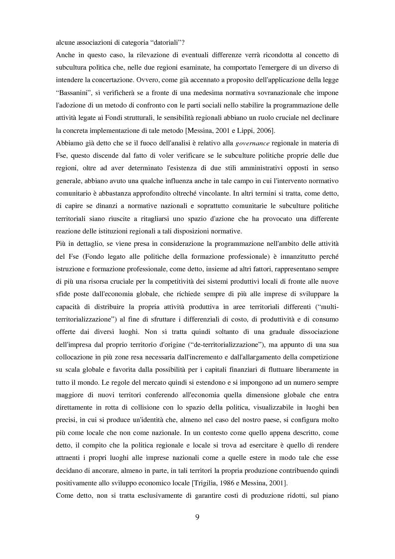 Anteprima della tesi: Il partenariato nel Fondo sociale europeo: i casi di Veneto ed Emilia-Romagna, Pagina 6