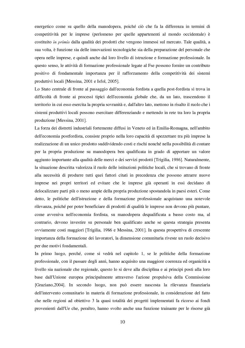 Anteprima della tesi: Il partenariato nel Fondo sociale europeo: i casi di Veneto ed Emilia-Romagna, Pagina 7