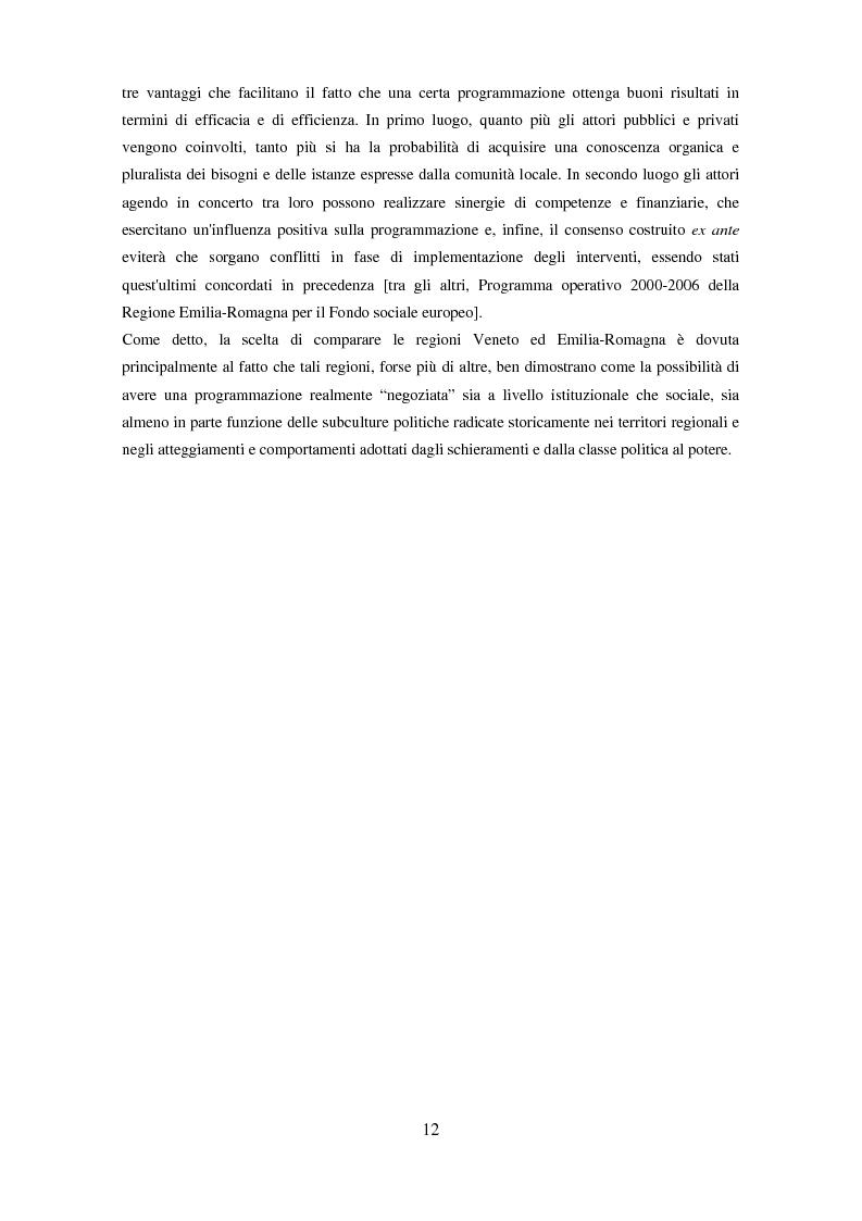 Anteprima della tesi: Il partenariato nel Fondo sociale europeo: i casi di Veneto ed Emilia-Romagna, Pagina 9
