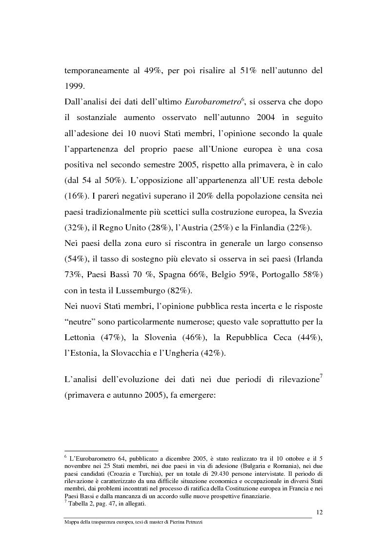 Anteprima della tesi: Mappa della trasparenza europea. Analisi, comparazione di casi e proposte, Pagina 10