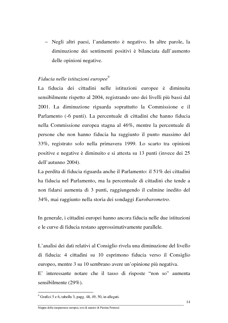 Anteprima della tesi: Mappa della trasparenza europea. Analisi, comparazione di casi e proposte, Pagina 12