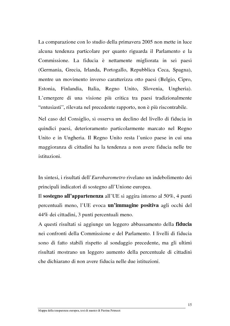 Anteprima della tesi: Mappa della trasparenza europea. Analisi, comparazione di casi e proposte, Pagina 13