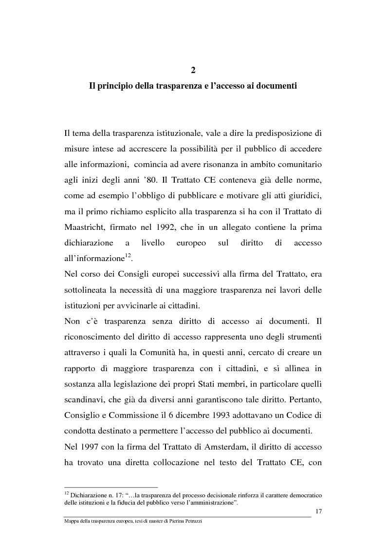 Anteprima della tesi: Mappa della trasparenza europea. Analisi, comparazione di casi e proposte, Pagina 15