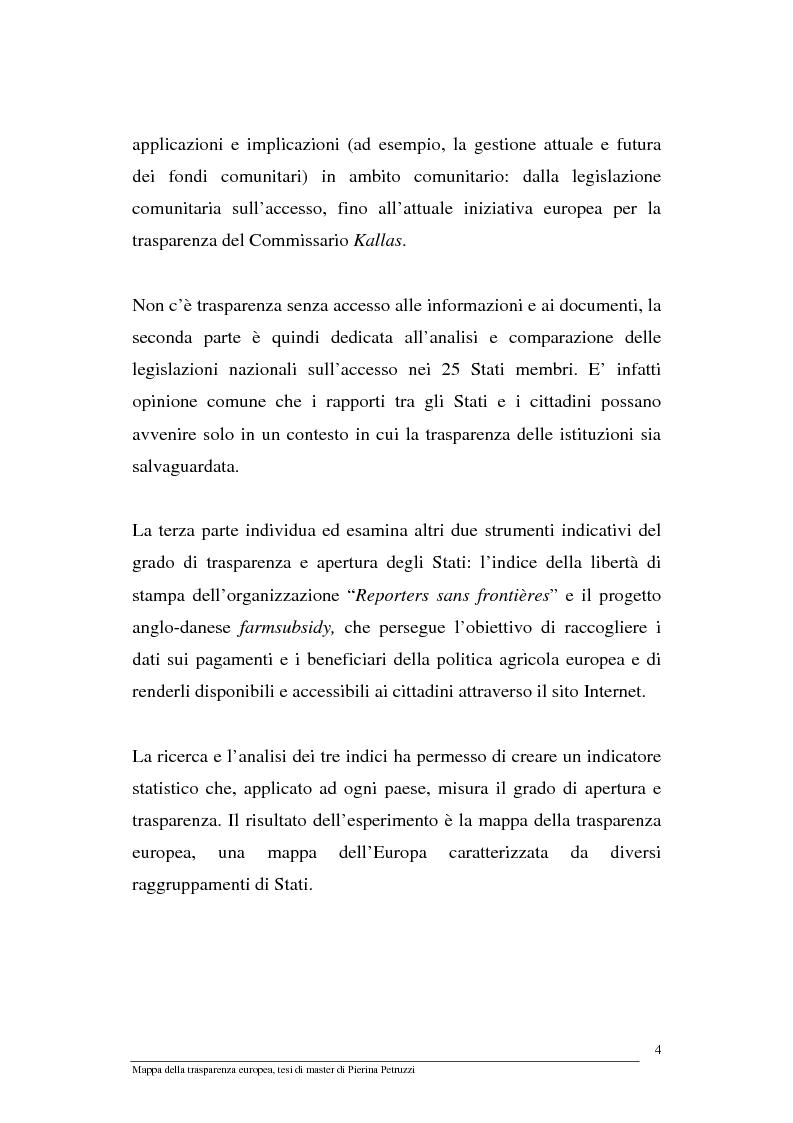 Anteprima della tesi: Mappa della trasparenza europea. Analisi, comparazione di casi e proposte, Pagina 2