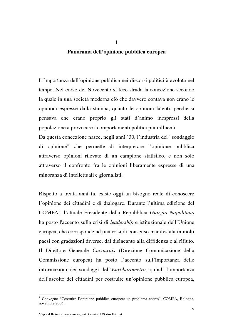 Anteprima della tesi: Mappa della trasparenza europea. Analisi, comparazione di casi e proposte, Pagina 4