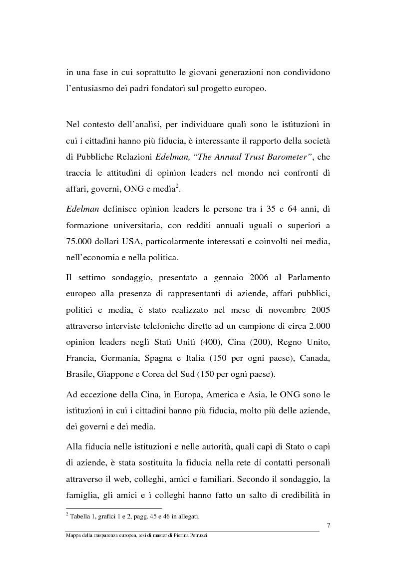 Anteprima della tesi: Mappa della trasparenza europea. Analisi, comparazione di casi e proposte, Pagina 5