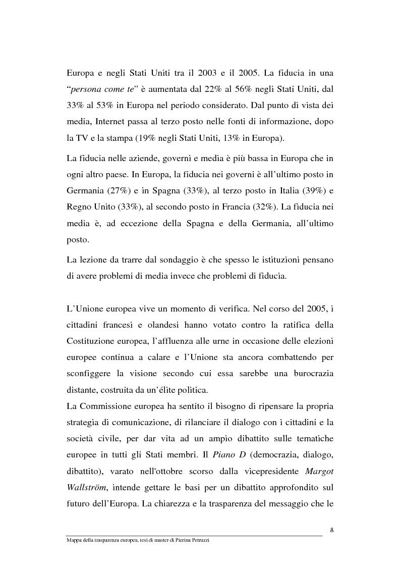Anteprima della tesi: Mappa della trasparenza europea. Analisi, comparazione di casi e proposte, Pagina 6