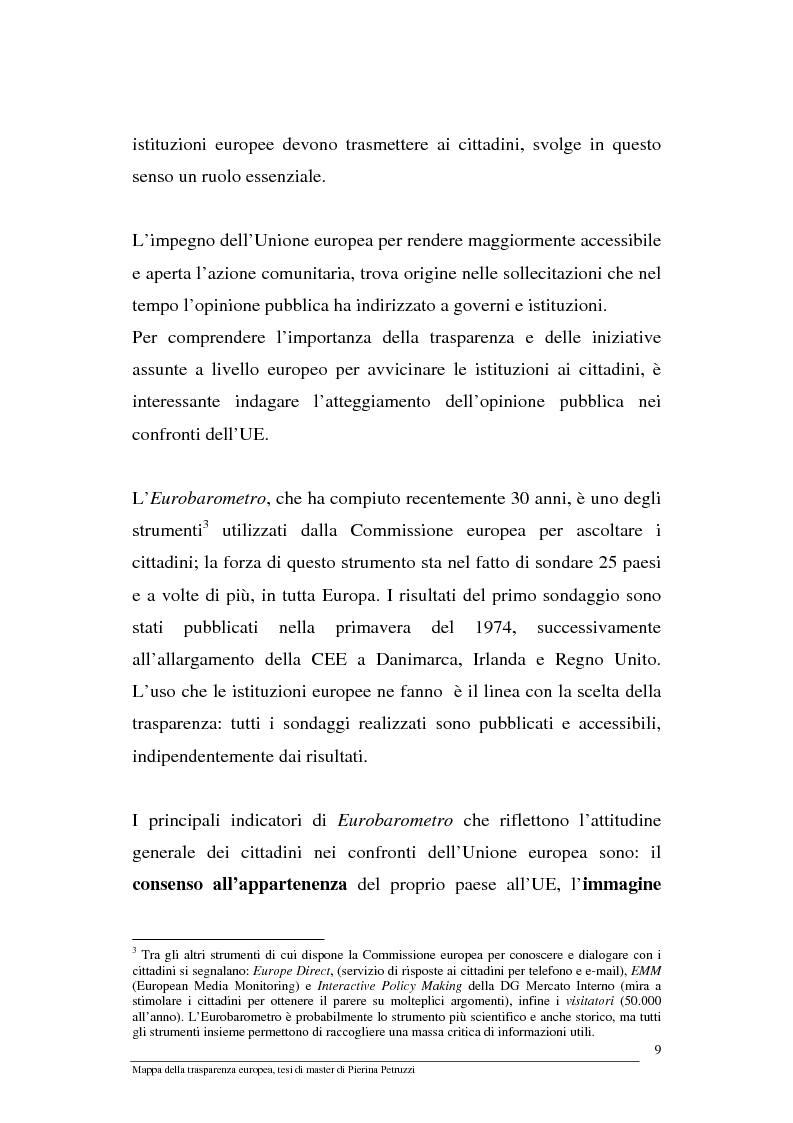 Anteprima della tesi: Mappa della trasparenza europea. Analisi, comparazione di casi e proposte, Pagina 7