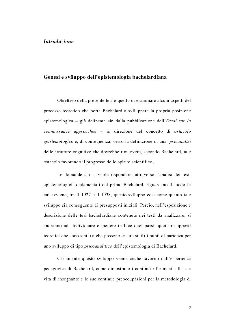 Anteprima della tesi: La conoscenza approssimata e l'ostacolo epistemologico nel primo Bachelard, Pagina 1