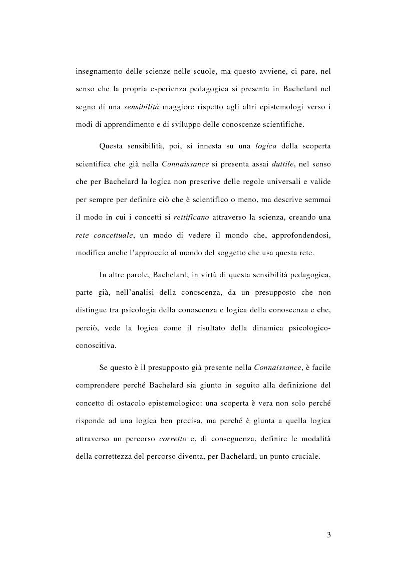 Anteprima della tesi: La conoscenza approssimata e l'ostacolo epistemologico nel primo Bachelard, Pagina 2