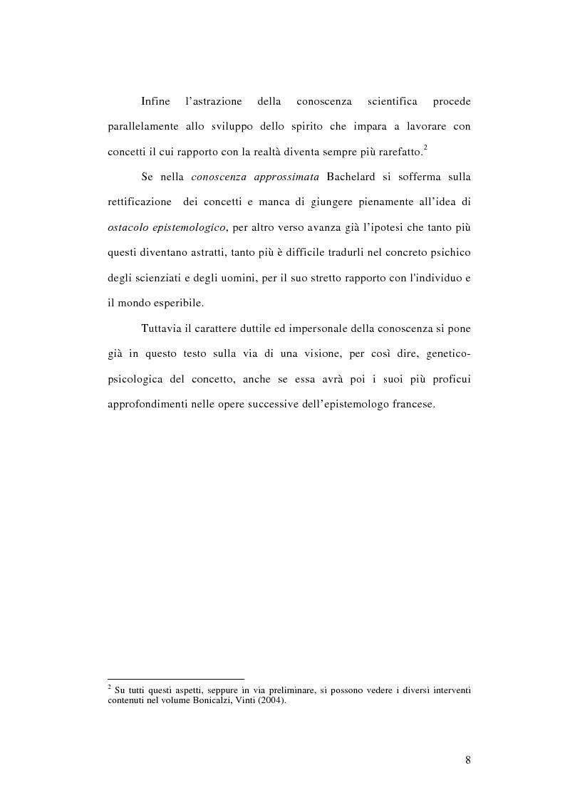 Anteprima della tesi: La conoscenza approssimata e l'ostacolo epistemologico nel primo Bachelard, Pagina 7