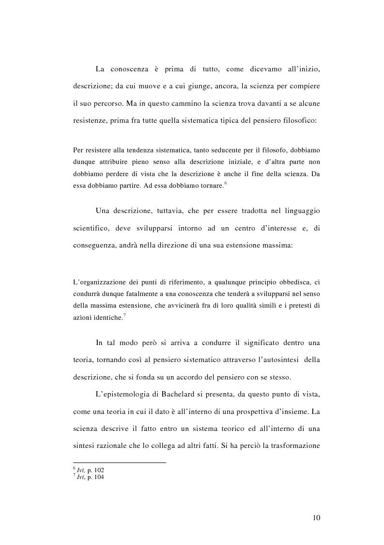 Anteprima della tesi: La conoscenza approssimata e l'ostacolo epistemologico nel primo Bachelard, Pagina 9