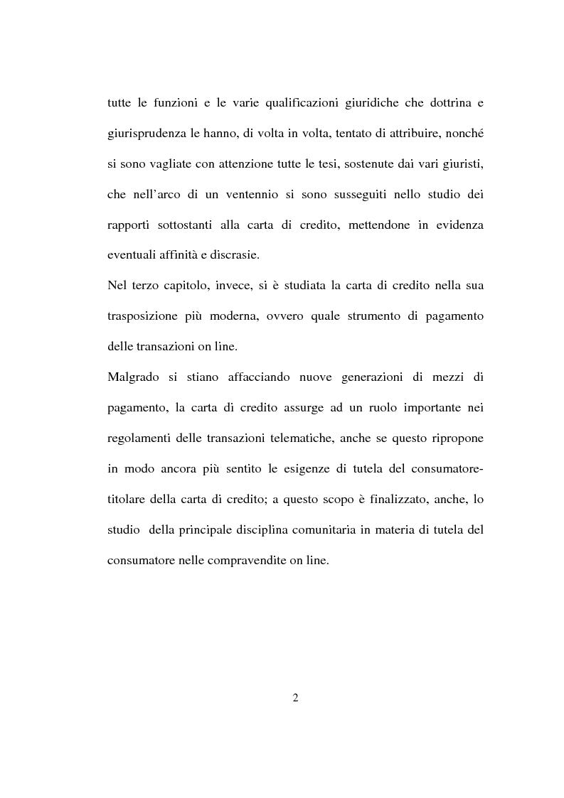 Anteprima della tesi: La carta di credito tra presente e futuro, Pagina 2
