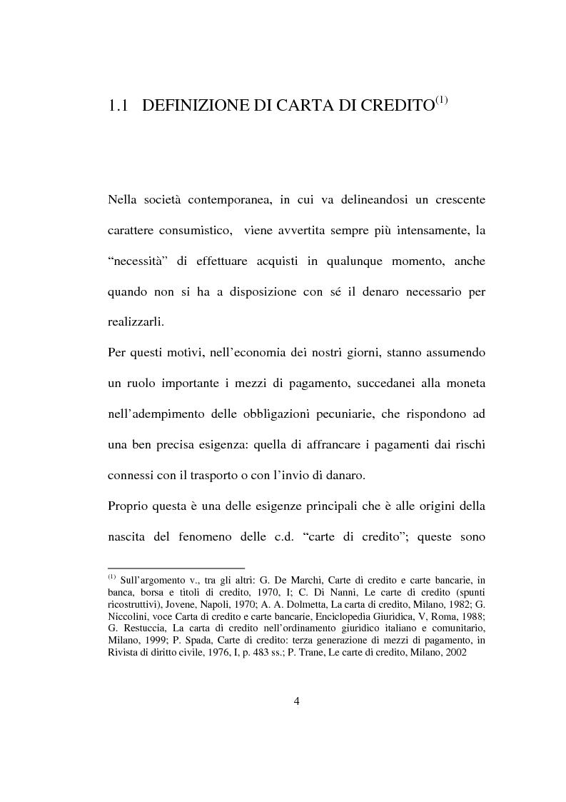 Anteprima della tesi: La carta di credito tra presente e futuro, Pagina 4
