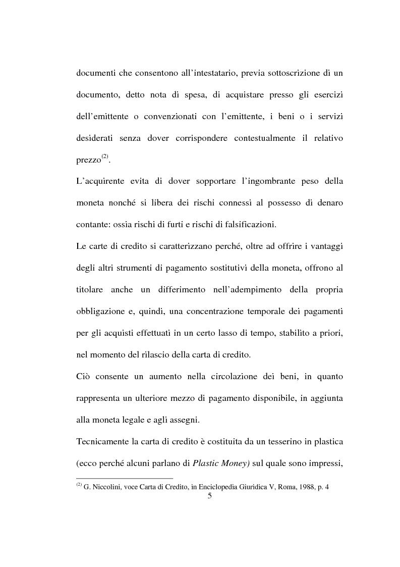 Anteprima della tesi: La carta di credito tra presente e futuro, Pagina 5