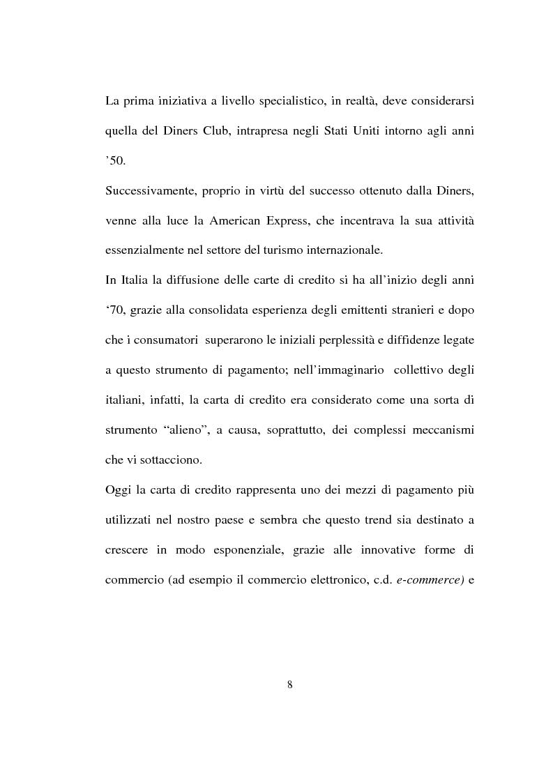 Anteprima della tesi: La carta di credito tra presente e futuro, Pagina 8