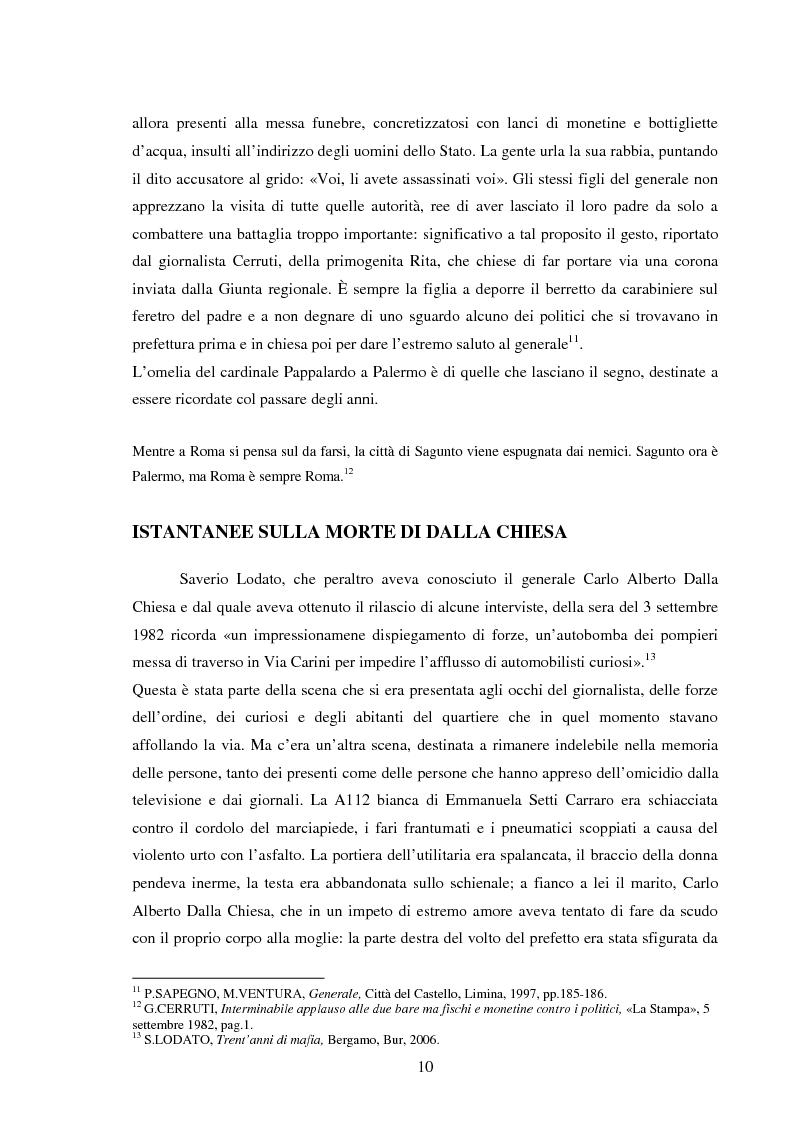 Anteprima della tesi: Mass media e memoria: gli attentati Dalla Chiesa, Falcone e Borsellino, Pagina 10