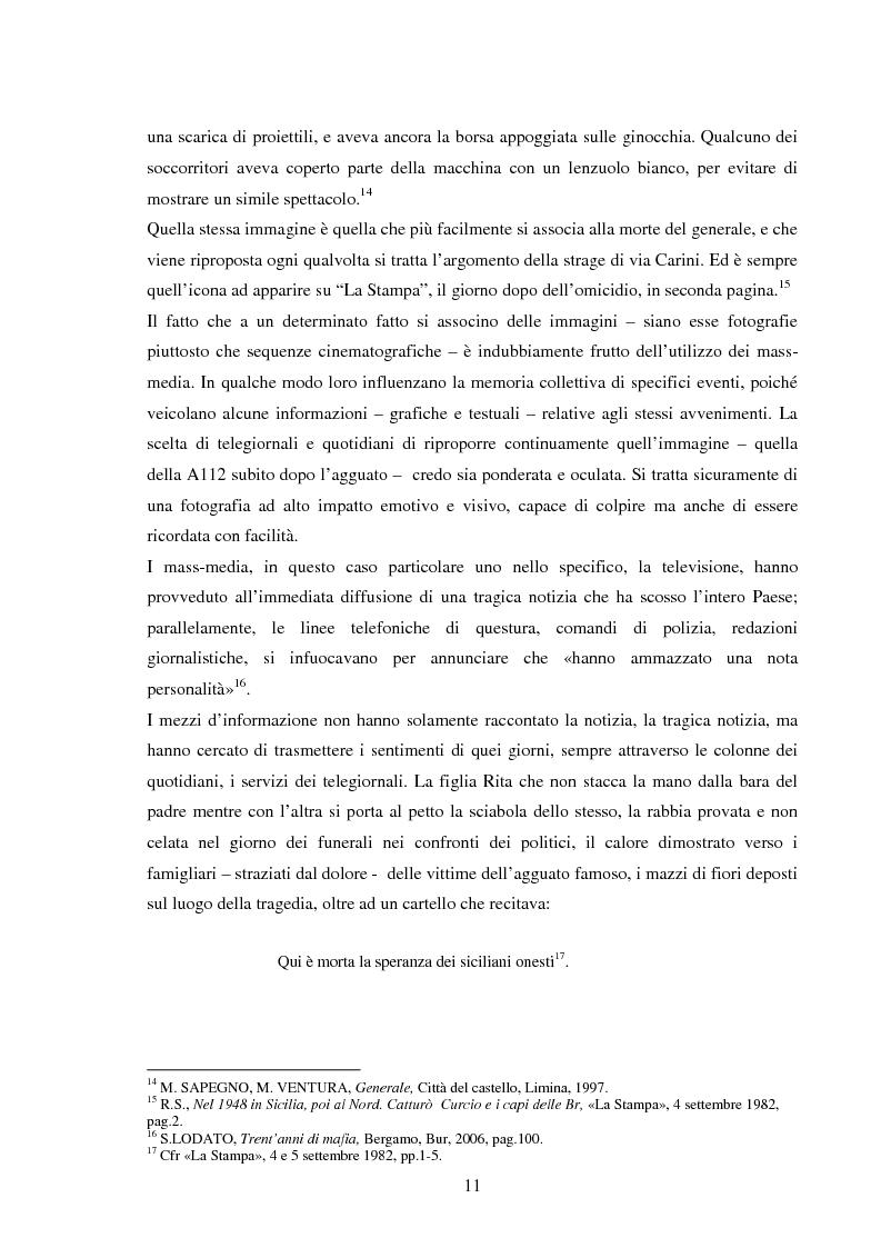 Anteprima della tesi: Mass media e memoria: gli attentati Dalla Chiesa, Falcone e Borsellino, Pagina 11