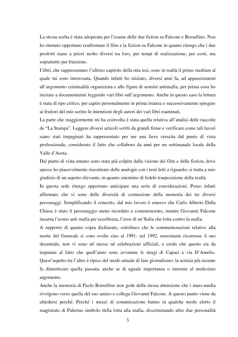 Anteprima della tesi: Mass media e memoria: gli attentati Dalla Chiesa, Falcone e Borsellino, Pagina 3