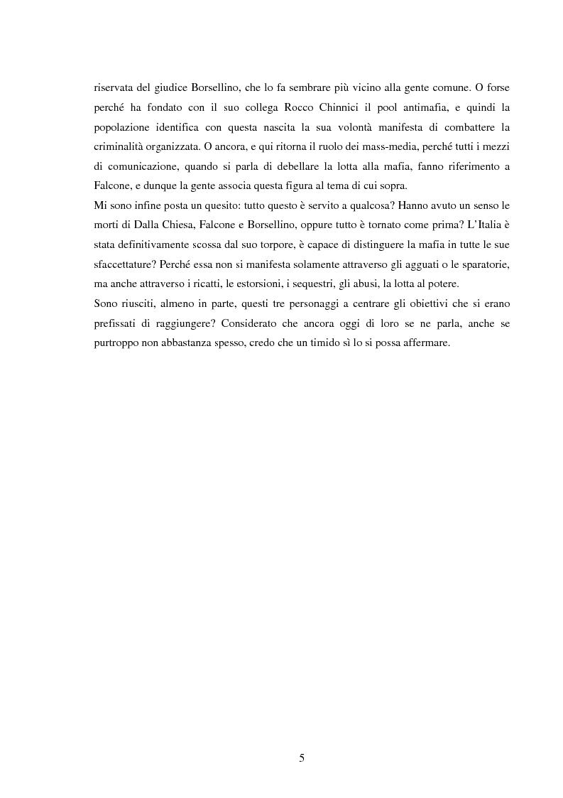 Anteprima della tesi: Mass media e memoria: gli attentati Dalla Chiesa, Falcone e Borsellino, Pagina 5